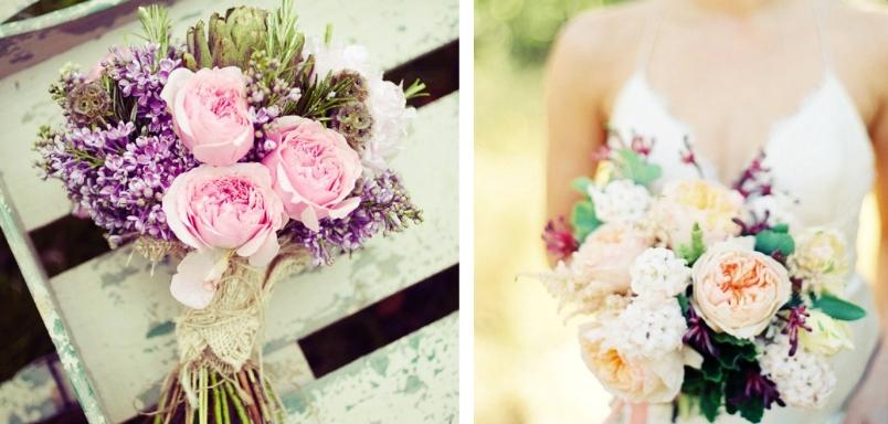 ramo novia color pastel