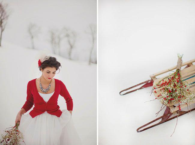 boda nieve navidad